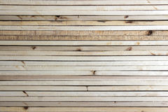 Lath. Placed orderly in the background Stock Photography