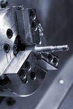 Lathe. The clamped screw in a cartridge of a lathe Stock Photography