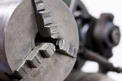Lathe chuck. For holding material to be machined Royalty Free Stock Photography