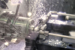Lathe, CNC milling royalty free stock images