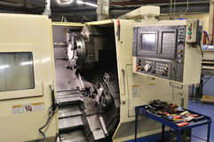 lathe with control panel. Stock Photos