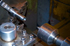 Lathe, cutting tool Stock Photo
