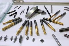 Lathe drill bit set Stock Photo