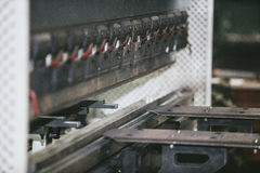 Lathe equipment in the factory manufacturing metal structures Stock Images