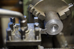 Lathe grinder machine Royalty Free Stock Photos