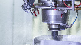 The lathe is hardworking Royalty Free Stock Photography