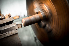 Lathe machine metal workshop Royalty Free Stock Image