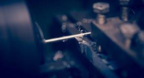 Lathe machine. Operates on steel rod stock images
