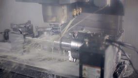 Lathe machine, turning machine works. stock video footage
