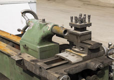 Lathe machinery Stock Images