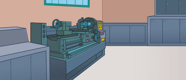 Lathe side Royalty Free Stock Images