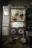 Lathe SNB320 panel commands. Panel commands from an old and rusty romanian lathe Royalty Free Stock Image