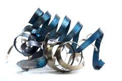 Lathe spiral metal shavings Stock Image