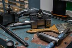 Lathe tools Stock Photos