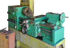 Lathe turning machine Royalty Free Stock Images