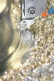 Lathe Turning Stainless Steel stock photo