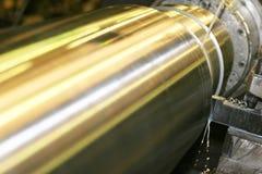 Lathe Turning Stainless Steel Royalty Free Stock Photo