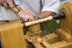 Lathe work Stock Images