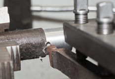 The lathe in work Royalty Free Stock Photo