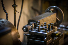 Lathe in workshop Stock Photography