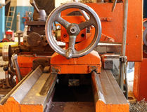 Lathe in workshop. Royalty Free Stock Image