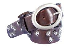 lather пояса коричневый Стоковые Фотографии RF