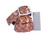 lather пояса коричневый Стоковое фото RF