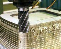 Lathing bronze. Stock Image