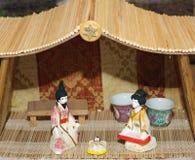 Lathund i japansk version i det typiska huset Arkivbild