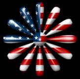 Lati del fiore 12 della bandiera americana Fotografia Stock Libera da Diritti