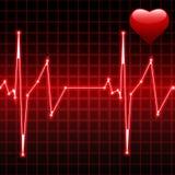 Latido del corazón con el corazón stock de ilustración