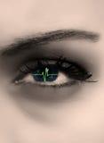 Latido del corazón en el ojo Foto de archivo