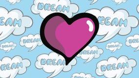 Latido del corazón en sueños almacen de video