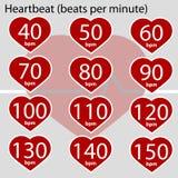 Latido del corazón infographic ilustración del vector