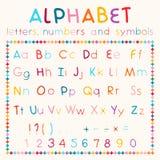 Latijns alfabet op witte achtergrond Stock Afbeeldingen