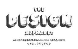 Latijns alfabetontwerp Gewaagde doopvont in leuke beeldverhaal 3d stijl Royalty-vrije Stock Fotografie