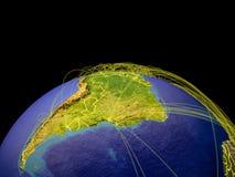 Latijns Amerika ter wereld van ruimte royalty-vrije illustratie
