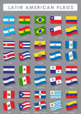 Latijns-Amerikaanse Vlaggen Stock Afbeeldingen