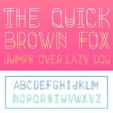 Latijnse alfabetbrieven Stock Afbeelding