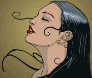 Latijnse Vrouw stock illustratie