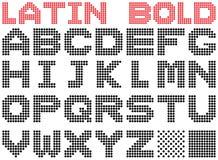 Latin alphabet. Bold. Stock Image