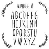 Latin alphabet, font, lettering. Stock Photo