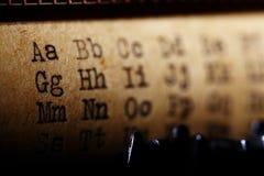Latin alphabet font printed Royalty Free Stock Image