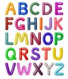 Latin alphabet made of colored plasticine royalty free stock photo