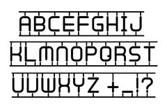 Latin alphabet in toy style isolated on a white background Royalty Free Stock Images