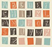 latin alphabet in vector Royalty Free Stock Photography