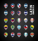 latin america countries Stock Image