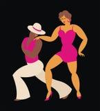 Latin America dance salsa. Lady and gentleman dance Latin America dance salsa Stock Photography