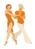 Latin America dance salsa. Lady and gentleman dance Latin America dance salsa Royalty Free Stock Photo