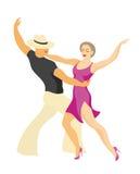 Latin America dance salsa. Lady and gentleman dance Latin America salsa Stock Photo